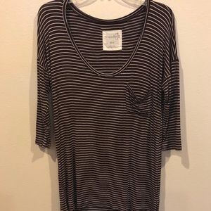 Free People striped high low top